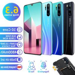 3G 6.3 Inch Android 9.1 Smart Phones Face ID Dual SIM & Came