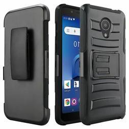 For Alcatel Smartphone Hybrid Heavy-Duty Kickstand With Hols