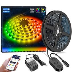 MINGER DreamColor LED Strip Lights Built-in IC with APP, 16.