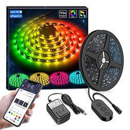 MINGER DreamColor LED Strip Lights, Smart Music Sync Light S