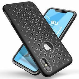 For iPhone Xs Max Case Liquid TPU Silicone Rubber Premium Hy