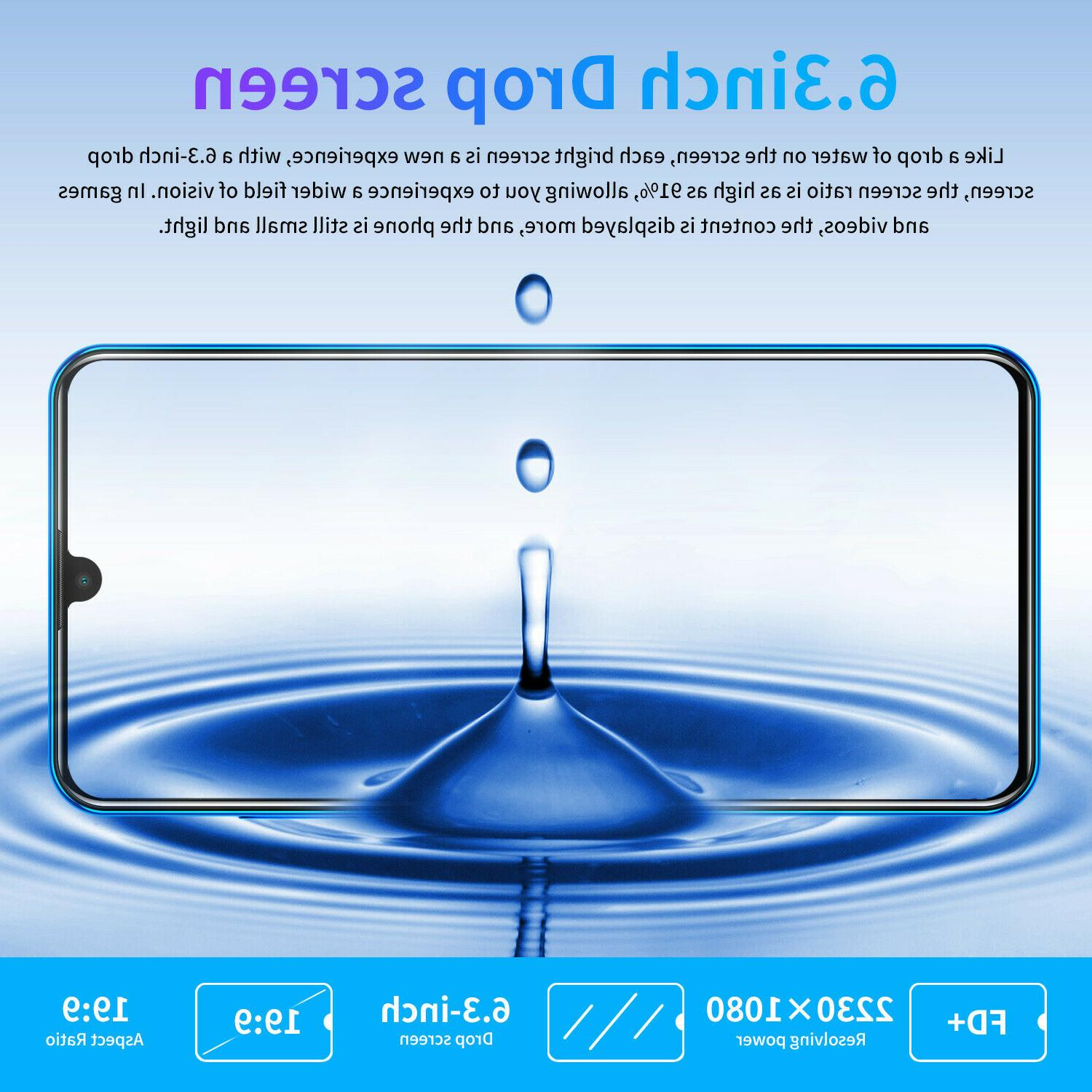 3G 6.3 Android 9.1 ID Dual Cameras 6G+128G 4800