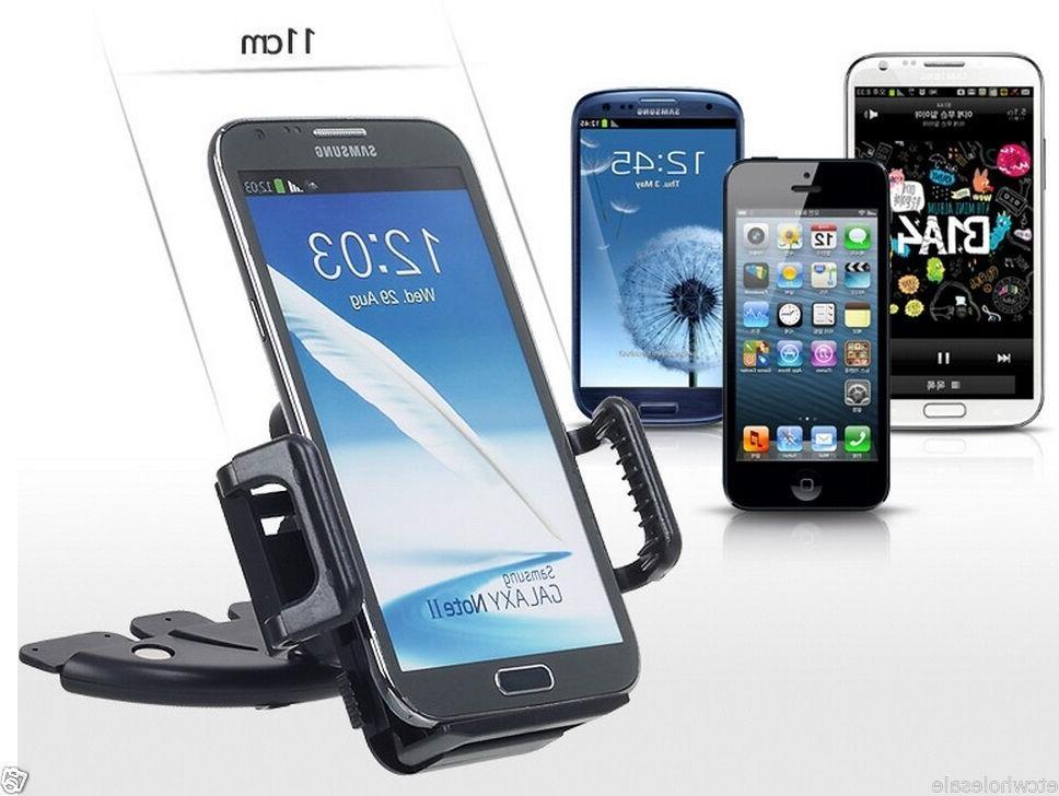 Car CD Slot Mount Bracket Holder for Galaxy S5 S6 S7 Edge +