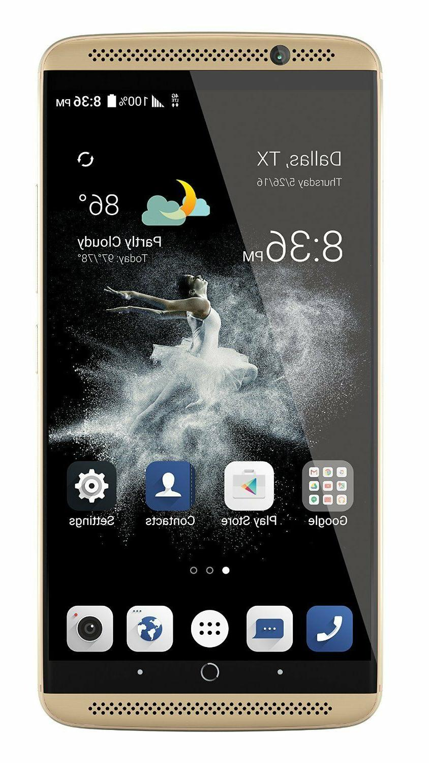 Zte Axon 4g Lte With 64gb Memory Ion Gold
