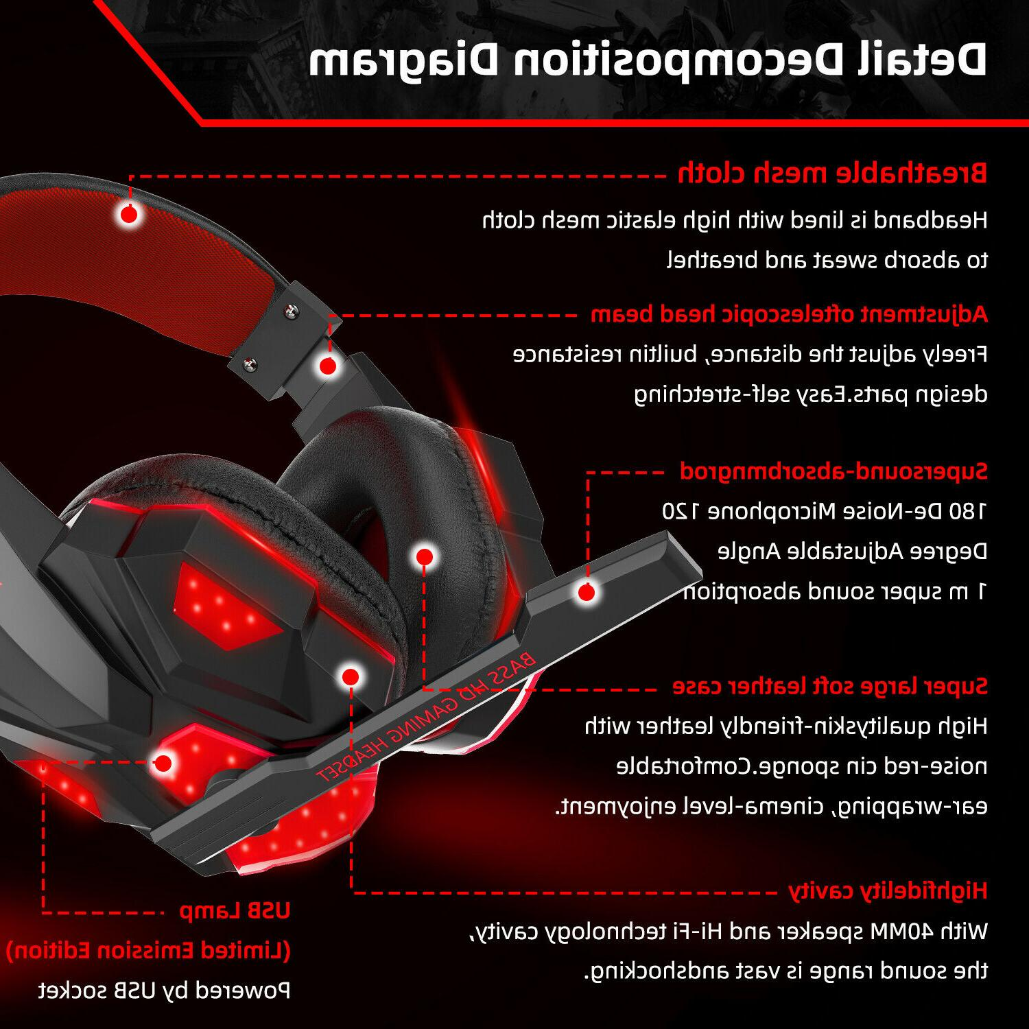 Gaming Mic Surround For PC XBOX One Laptop