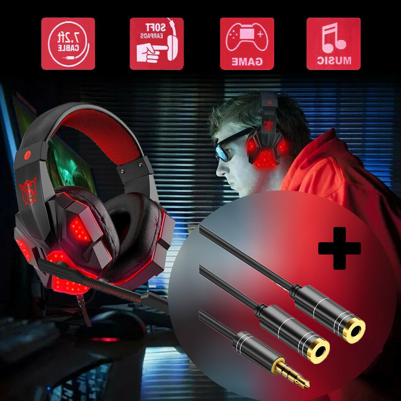 gaming headset stereo headphone mic surround