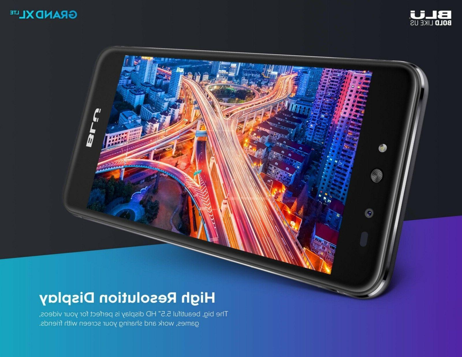 "BLU Grand XL LTE -5.5"" HD GSM Unlocked Android Smartphone Main"