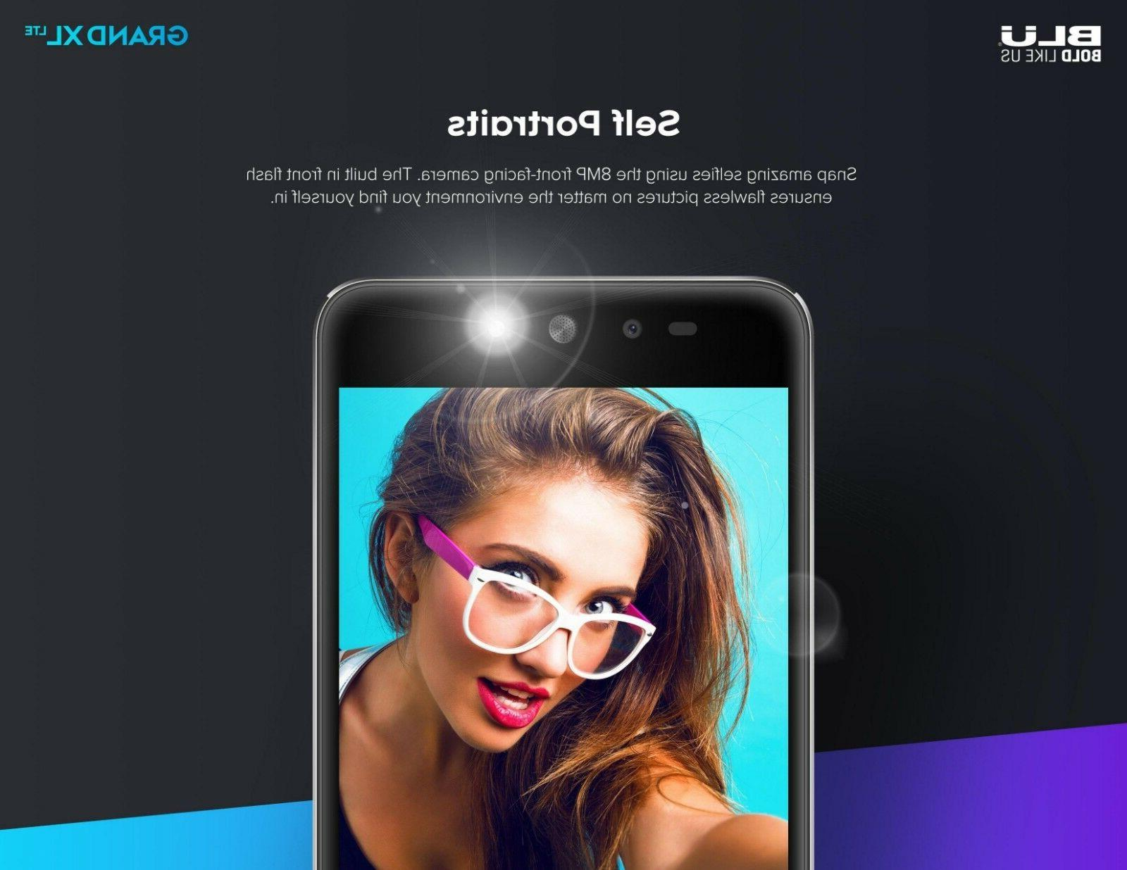 """BLU Grand LTE -5.5"""" Unlocked Android with 13MP Main Camera"""