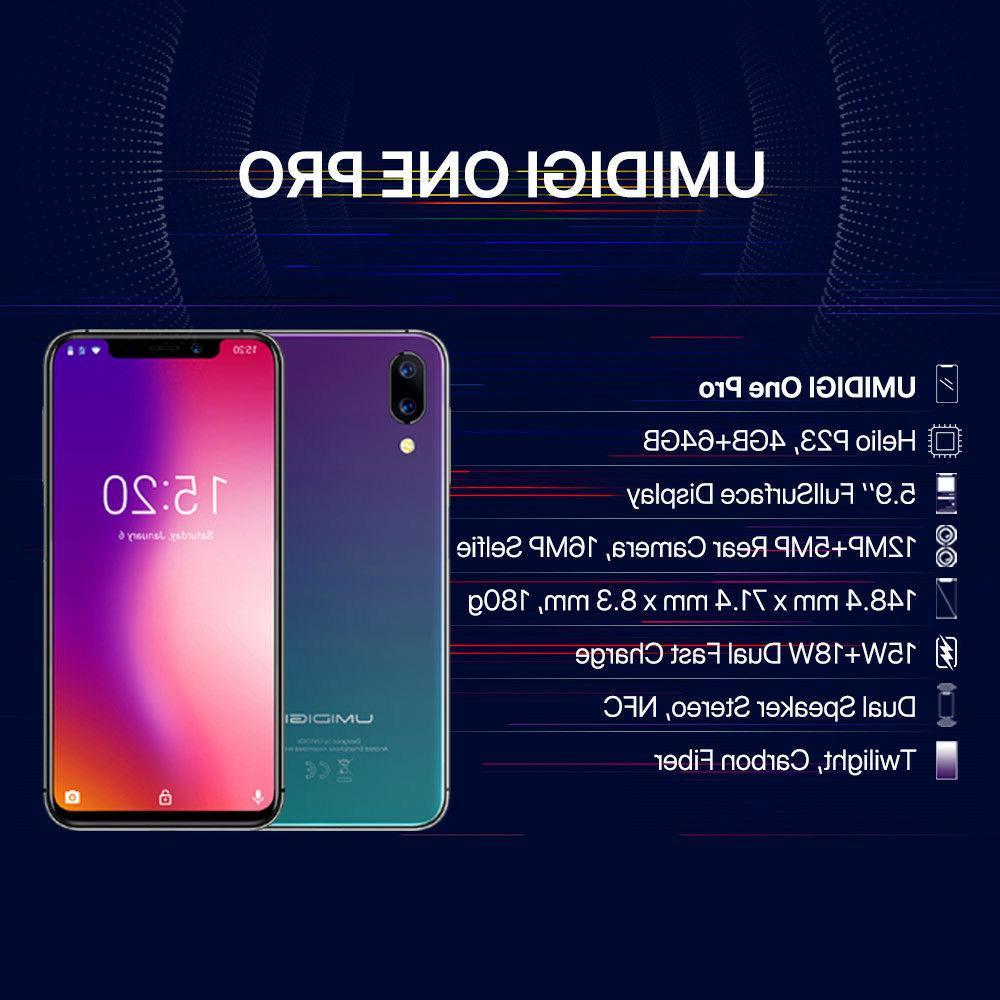 UMIDIGI One Pro Dual 4G Unlocked 4GB