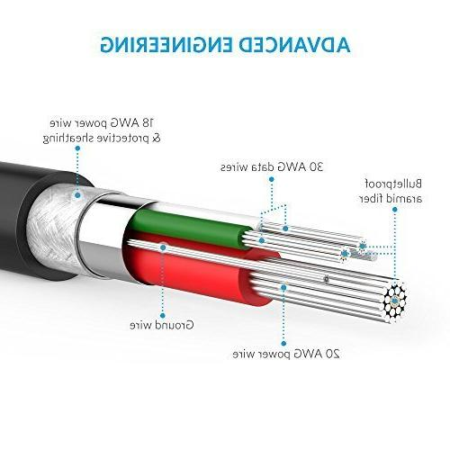 Anker - Charging Cable Samsung, Android Smartphones and