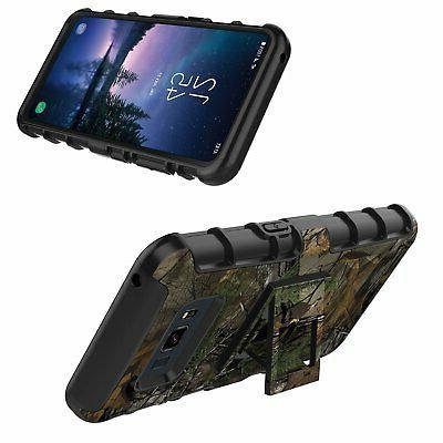 Samsung Galaxy Active Case Holster Shockproof w Swivel Belt Clip