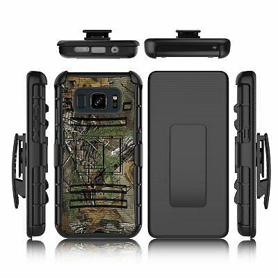 Samsung S8 Active Case Holster Dual Layer Shockproof Swivel Clip