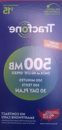 TracFone Smartphone 500 Minute 30 Day Airtime Card Refill Fa