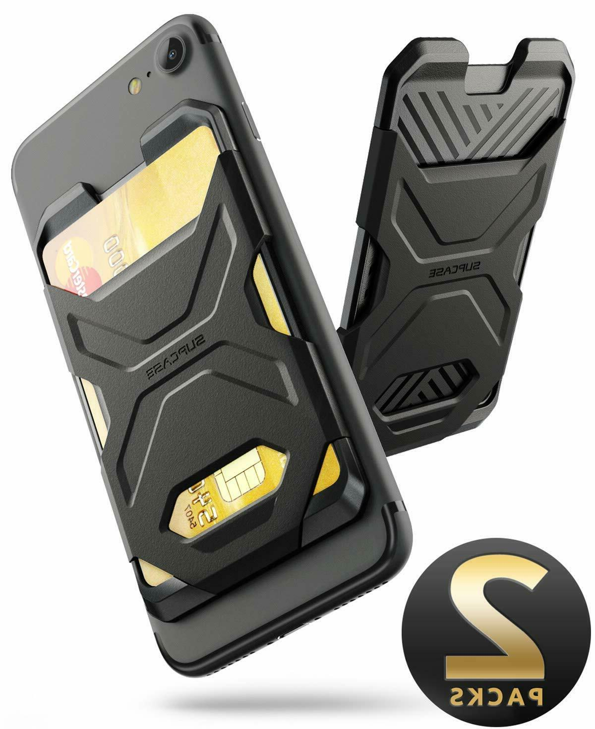 SUPCASE Smartphone Wallet Case Silicone Credit Card Sticker Ultra