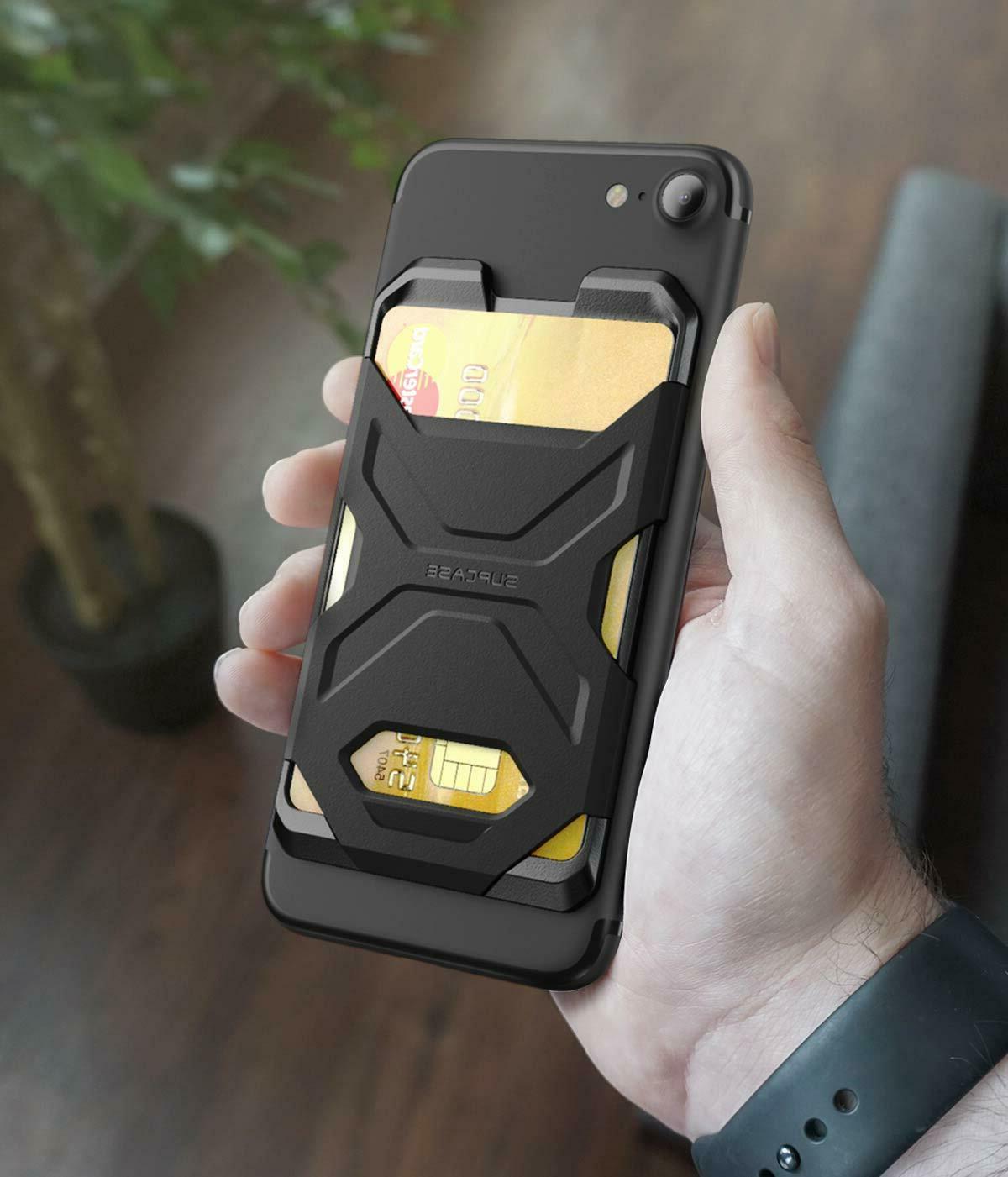 smartphone wallet case silicone credit card holder