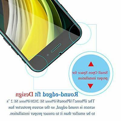 Tempered Glass iPhone SE 2020 8 Screen Protector Anti-Scratch 3D