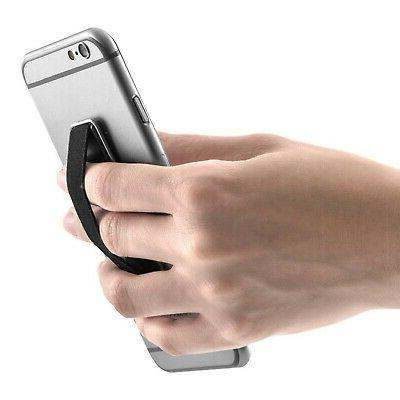 kwmobile Elastic Finger Holder Smartphones with Stand