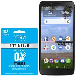 Net10 TCL LX 4G LTE Prepaid Cell Phone with $40 Airtime Plan
