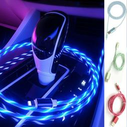 RGB LED Smartphone Charging Cable Data Sync USB Cord Android