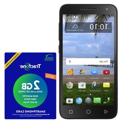 Tracfone TCL LX 4G LTE Prepaid Cell Phone with $40 Airtime P