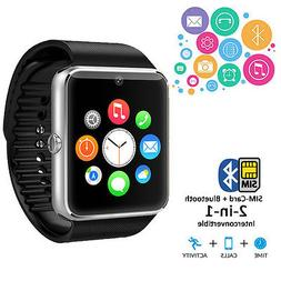 Unlocked Universal 2-in-1 Smart Watch Phone BT 3.0 Built-in