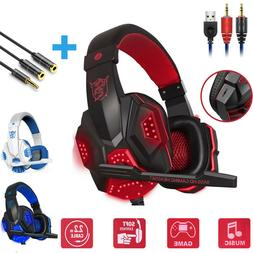 Wired Gaming Headset Stereo Mic Headphones Surround For PC X